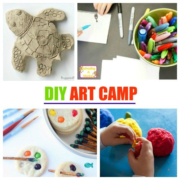 Creative Art Camp for Kids At Home