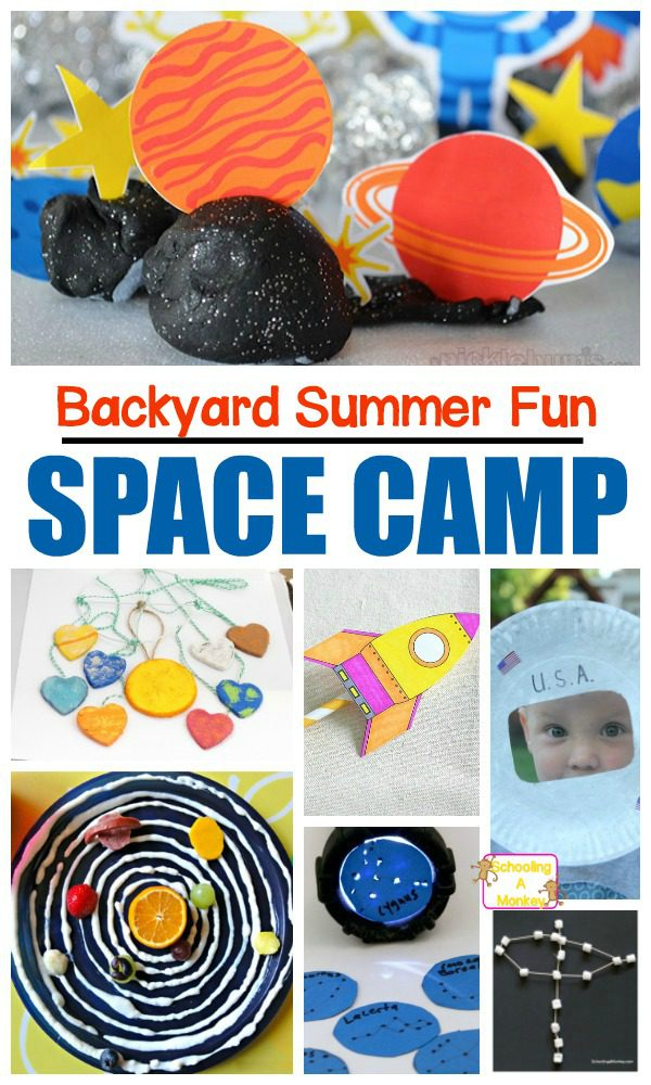 Summer fun needs space camp! This at home summer camp has a fun DIY space camp theme that kids will love! These summer memories with your kids will last!