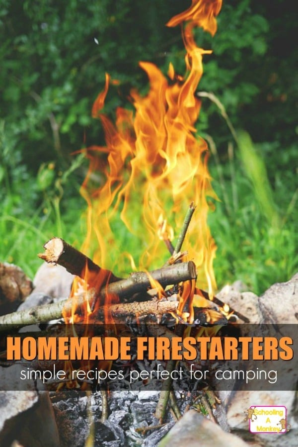 These homemade firestarters are fun to make before camping with kids. Teach kids fire safety and more with these complete camping unit study resources!