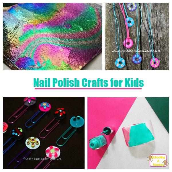 Nail polish isn't just for nails! These nail polish crafts for kids are kid-friendly nail polish crafts and are simple and fun for kids!
