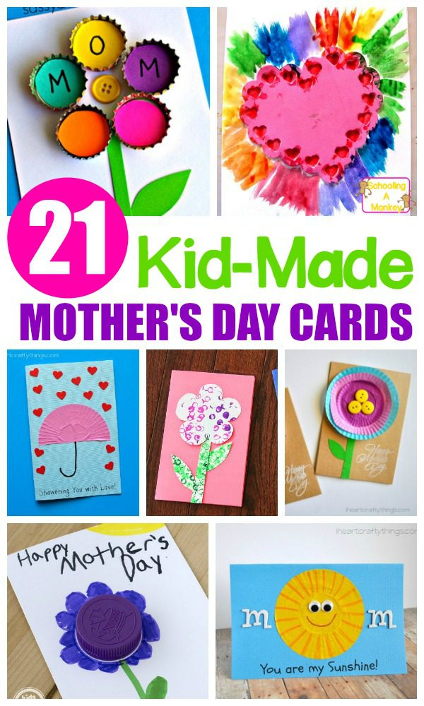 This Mother's Day, make these creative and cute kid-made Mother's Day cards. Kids will love giving these adorable cards to their moms!