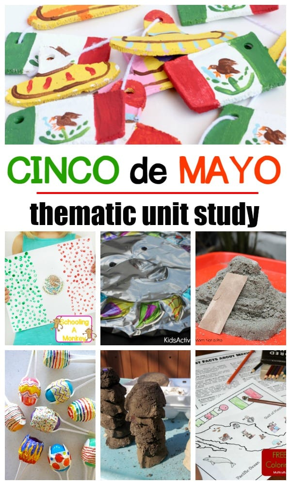 Complete a Mexican unit study with these Cinco de Mayo activities! Hands-on activities for Cinco de Mayo and more to complete a Mexico theme!