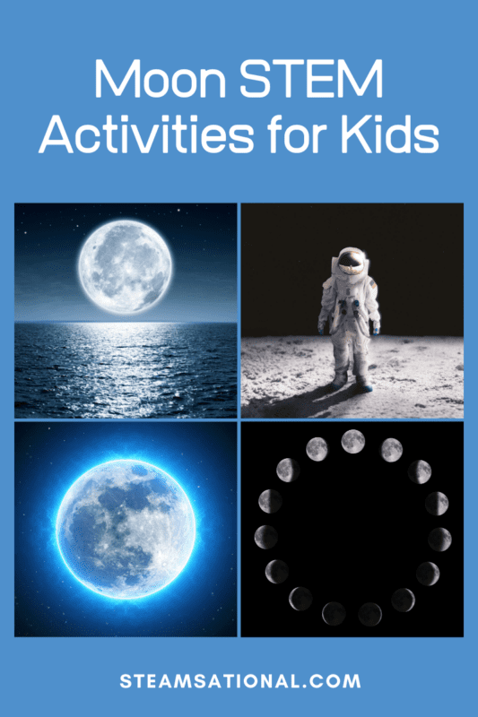 Learn all about the moon with these moon STEM activities. ! Kids will love learning about the moon with these moon experiments.