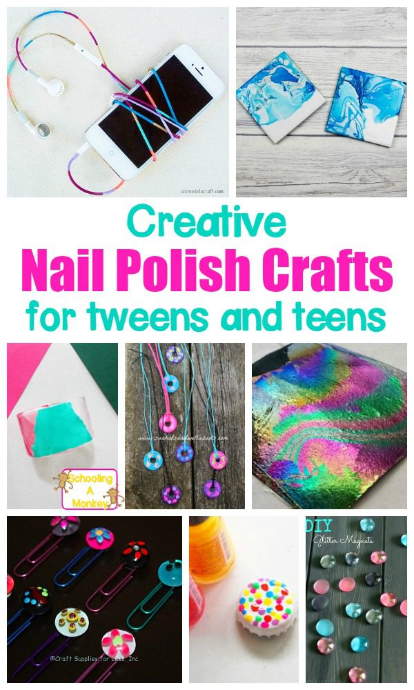 Nail polish isn't just for nails! These nail polish crafts for kids are kid-friendly nail polish crafts and are simple and fun for kids!