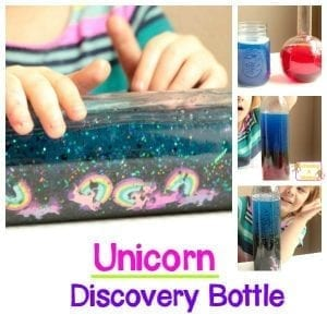 Color-Mixing Fun: Unicorn Color Changing Discovery Bottle