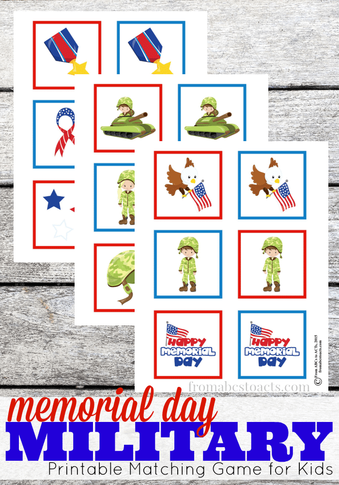 Build a Memorial Day theme or Memorial Day unit study with this collection of Memorial Day printables and activities for kids!