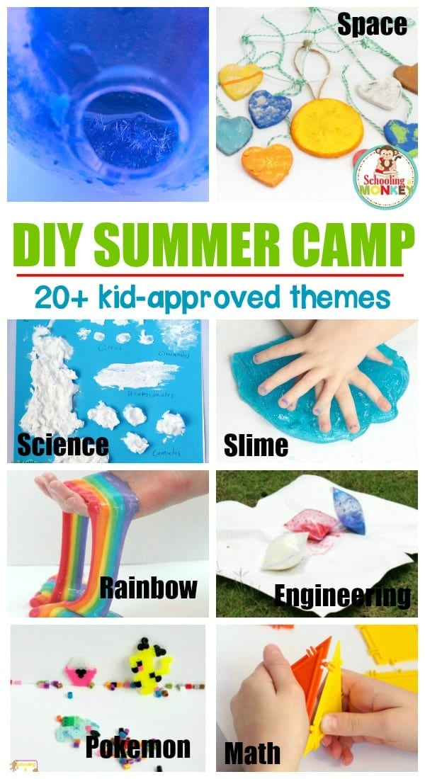 Give your kids a memorable and screen-free summer with a DIY summer camp! Kids will love these hands-on summer camp themes filled with summer activities.