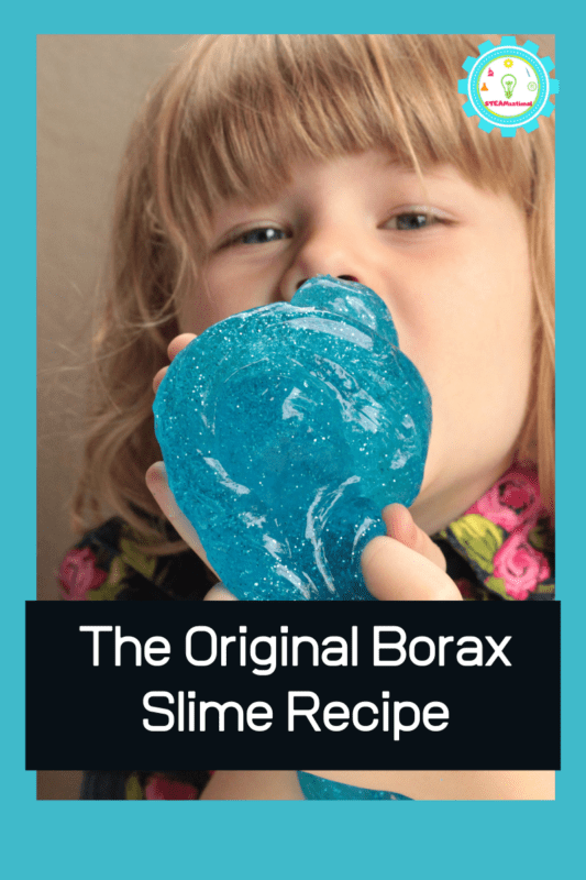 How to make slime with borax is quite easy! Making a slime recipe with borax is one of our favorite ways to teach kids about chemical bonds and makes a fun science experiment for kids!