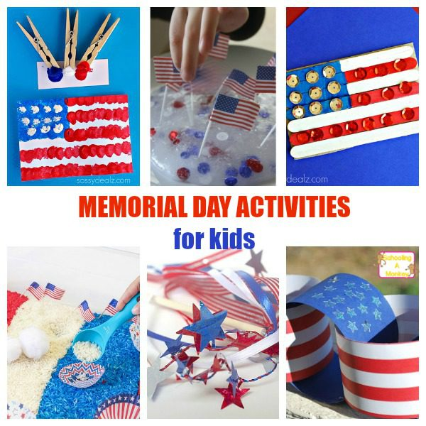 Patriotic Memorial Day Crafts And Activities For Kids