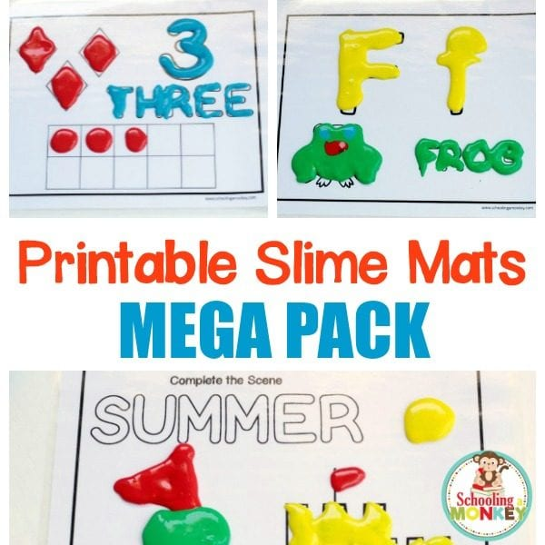 picture relating to Printable Mats titled Early Finding out Slime/Playdough Mats MEGA PACK