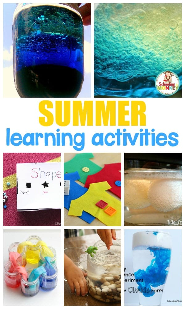 Make learning fun through the summer with these hands-on learning ideas! Summer science, summer reading, and summer fun for all!