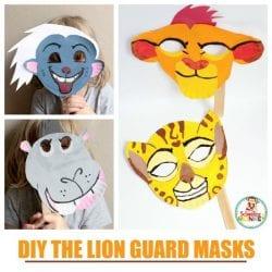 DIY The Lion Guard Paper Plate Masks