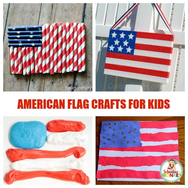 Celebrate your love of America with these fun flag crafts for kids! These patriotic crafts are super fun all summer long!