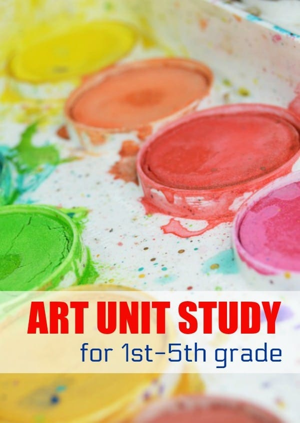 Make learning fun with an art unit study for elementary school! This thematic unit focuses on art and learning about artists for school-aged kids.