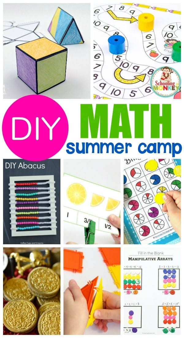 Math doesn't have to be boring! Use these fun math camp ideas to make your own DIY math summer camp at home! These ideas for math camp will help you make a better math camp for kids and your kids will love these summer camp math activities that will give you plenty of summer camp ideas for teachers and parents. #stem #stemed #summercamp #summerfun #mathactivities #math #handsonlearning