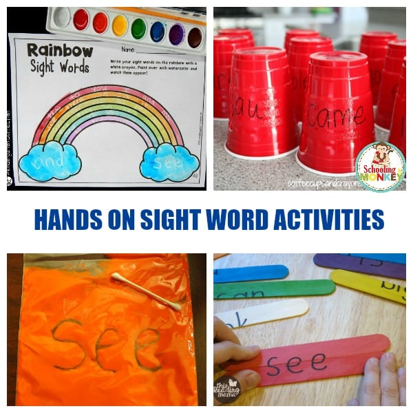 Hands On Sight Word Activities for Kindergarten and First Grade