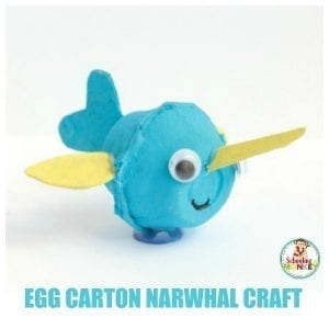 Easy and Fun Ocean-Ready Egg Carton Narwhal Craft