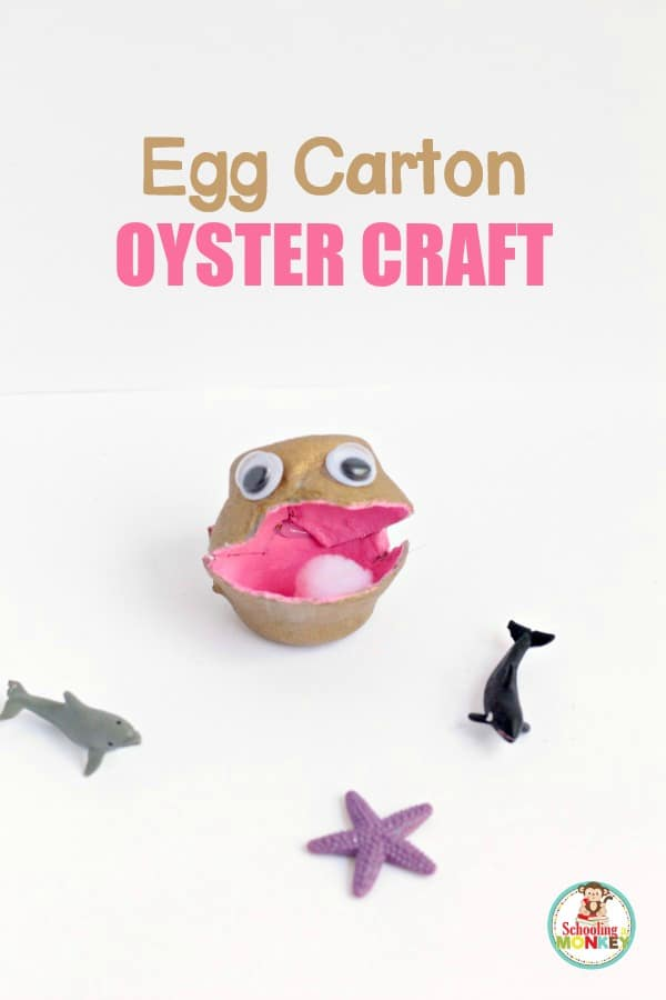 This super fun ocean craft is the perfect summer activity for kids! This egg carton oyster craft for kids is simple to make, and super adorable!