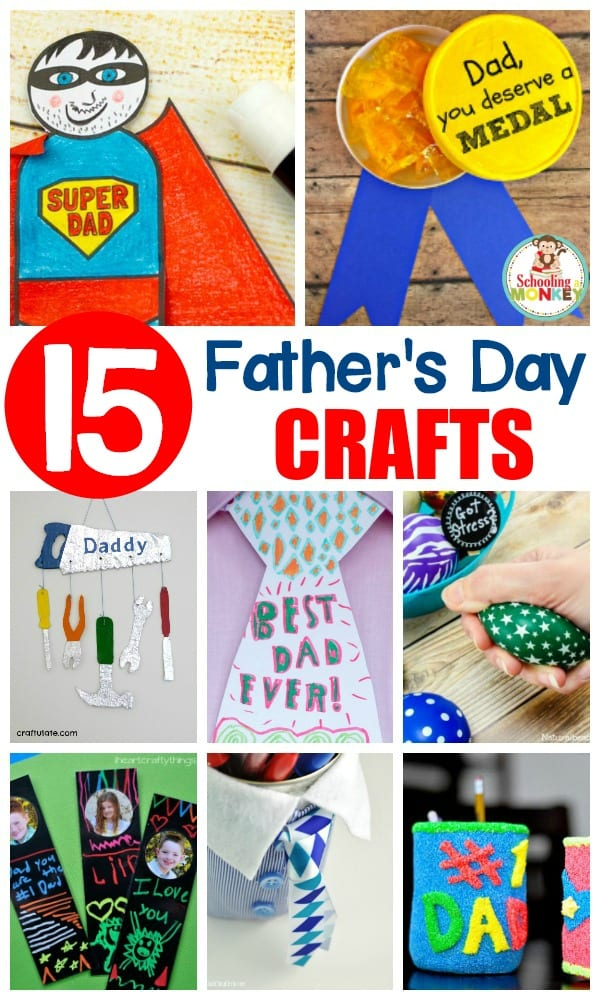 These Father's Day crafts offer the perfect way for kids to celebrate their dad or any positive male role model in their life! Tons of craft ideas for kids!