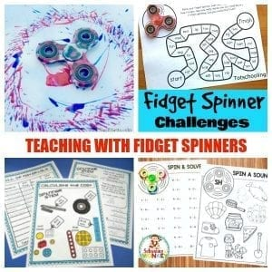 Educational Fidget Spinner Activities for the Classroom or Home