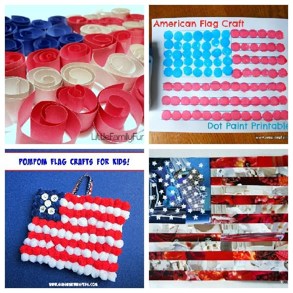 db647f4caab8 Celebrate your love of America with these fun flag crafts for kids! These  patriotic crafts