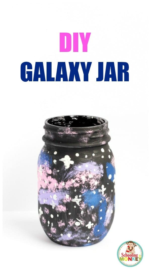 Learn how to do the galaxy jar experiment with just paint and LED lights! Super fun space science activity for galaxy-loving kids!