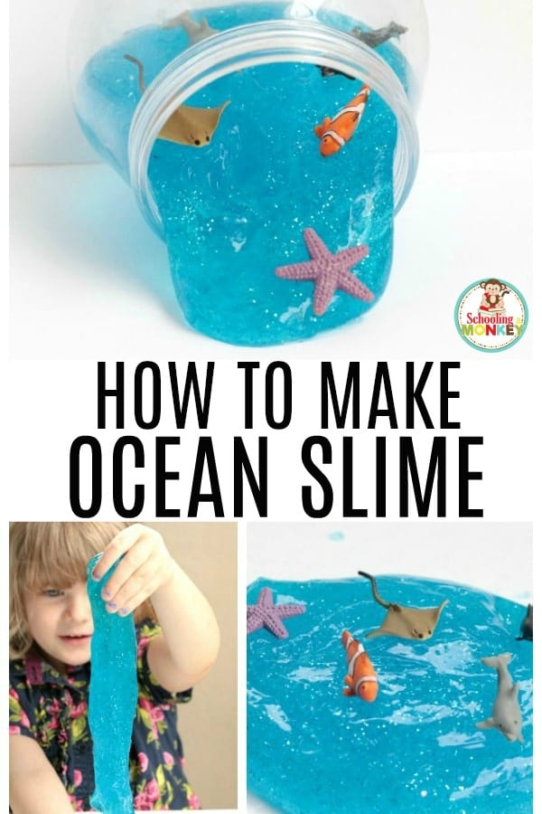 When it comes to making slime, no recipe is easier than Borax slime! Borax slime makes foolproof slime recipes almost every time, and this ocean slime recipe is no exception. This ocean slime looks just like you brought it from the sparkling coast of Australia! Under the sea slime is the perfect summer slime recipe! #slime #slimer #kidsactivities #summerfun #summeractivities #sensory #slimerecipe