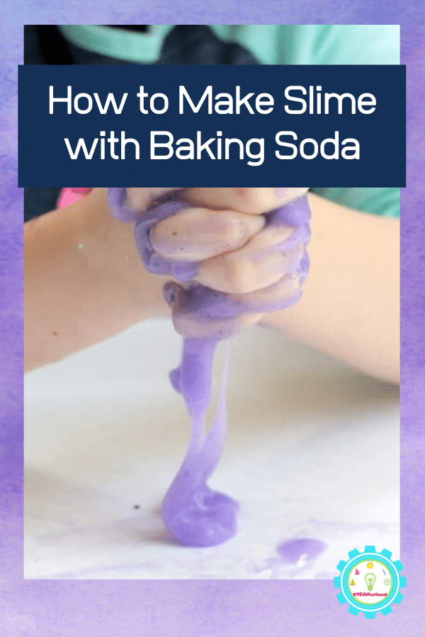 Want to learn how to make slime with baking soda? Follow along with this easy tutorial to make baking soda slime without borax!