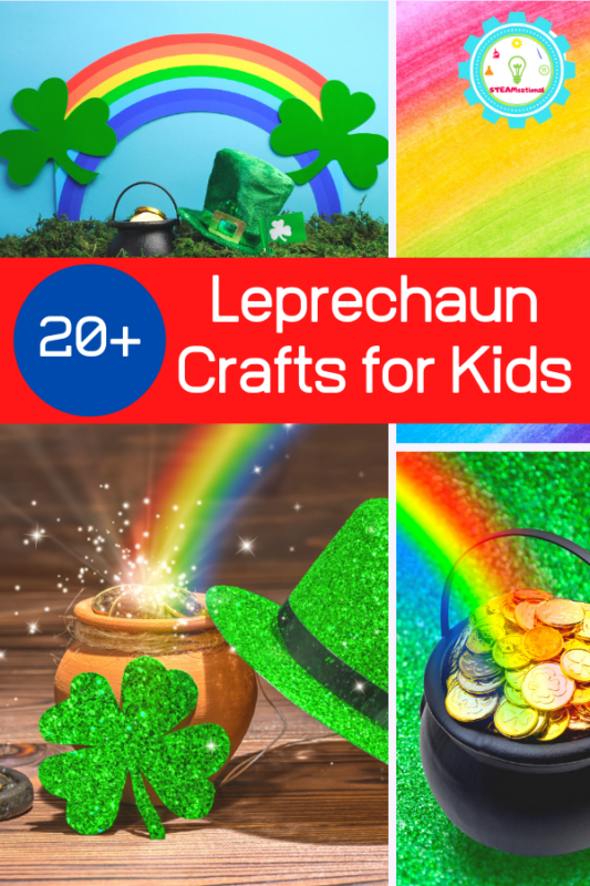 Kids will love these creative and adorable Leprechaun crafts! Perfect for celebrating St. Patrick's Day at home or in the classroom!