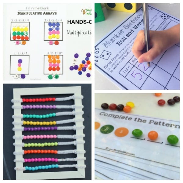 Hands-on math activities for math camp at home