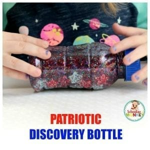 Sparkly and Colorful Patriotic Discovery Bottle for Kids