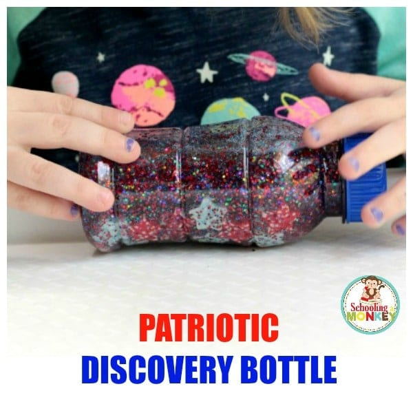 If you are ready to celebrate America, make a patriotic discovery bottle! Perfect for kids too young for fireworks and is a fun patriotic activity for kids!