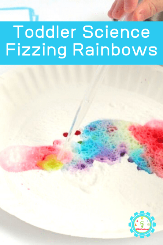 rainbow baking soda and vinegar experiment