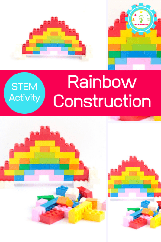 The first thing they thought to make was to make a LEGO rainbow. Learn how to make a LEGO rainbow using our instructions!