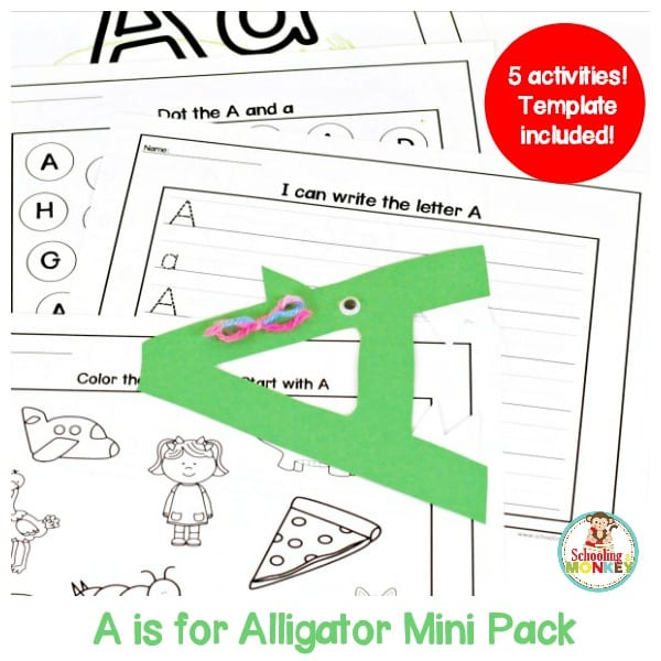 Make learning letters fun with this letter A activity pack! Kids will love these hands-on activities and teachers will love how easy it is to print and go!