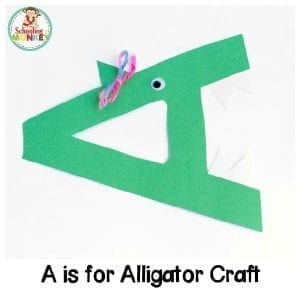 A is for Alligator Letter Craft