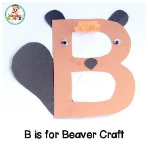 B is for Beaver Letter Craft