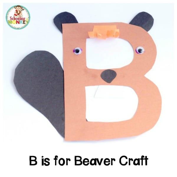 B is for Beaver Alphabet Craft