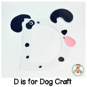 D is for Dog Letter Craft