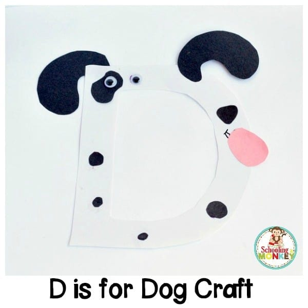 D is for Dog Alphabet Craft