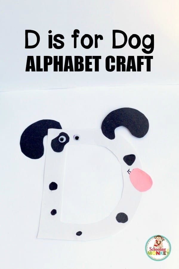 Kids will love transforming the letter D into a fun and happy dog with this D is for dog letter craft! This activity fits in with all alphabet crafts.