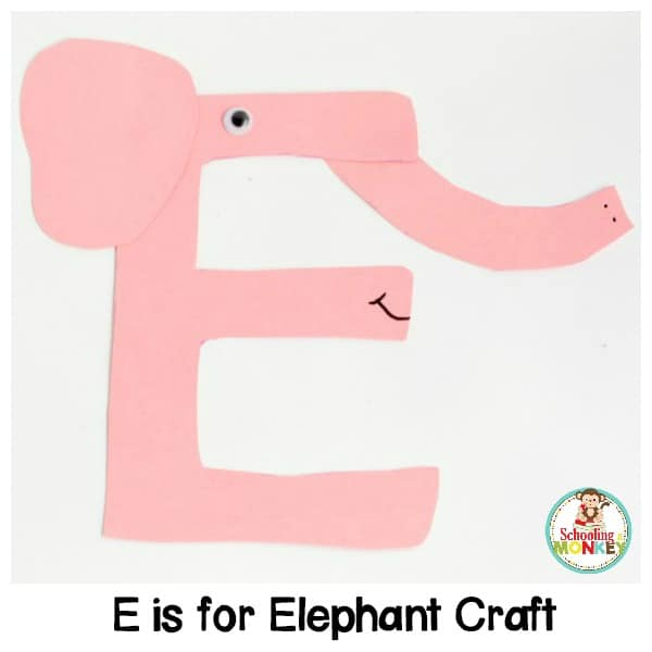 What does E stand for? An elephant of course! Transform a letter E into this adorable e is for elephant letter craft! A fun way to teach the alphabet!