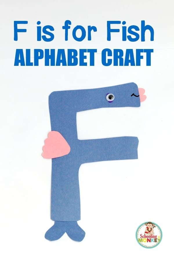 Make learning the letter F fun with this low-prep F is for fish letter craft! This alphabet craft is the perfect kindergarten learning activity.