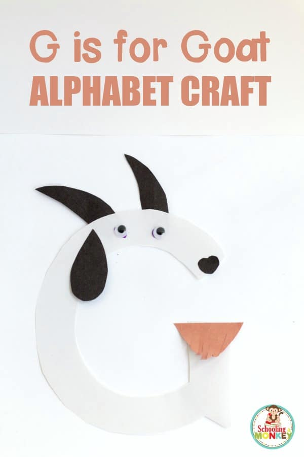 Teach the hard sound of the letter G with this fun G is for goat letter craft! Kids will love transforming a basic letter G into a cute goat.
