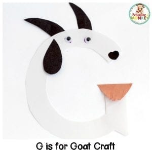 G is for Goat Letter Craft