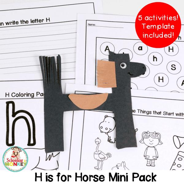 letter h activity mini pack
