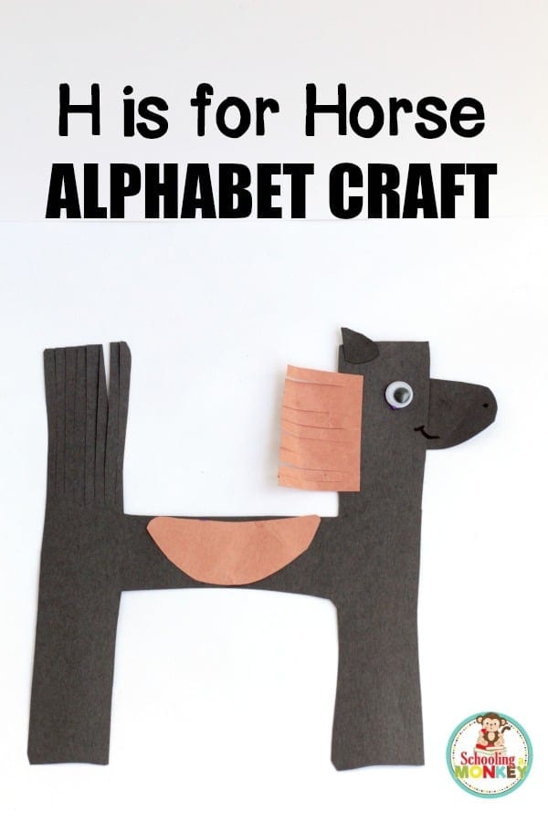 Teach the letter H with this super simple H is for horse letter craft. This is the perfect kindergarten craft using hands on activities to teach letters.