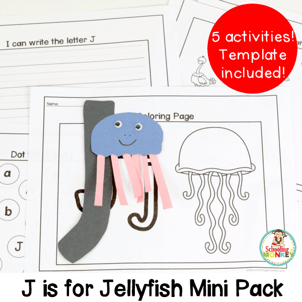 Learning letters is fun with the letter J activity pack! These five activities are perfect for preschool or kindergarten, and require no prep.