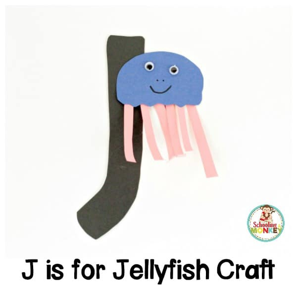 If you love the letter J, you won't want to miss making this adorable J is for jellyfish letter craft! Kids will love how much fun this is!