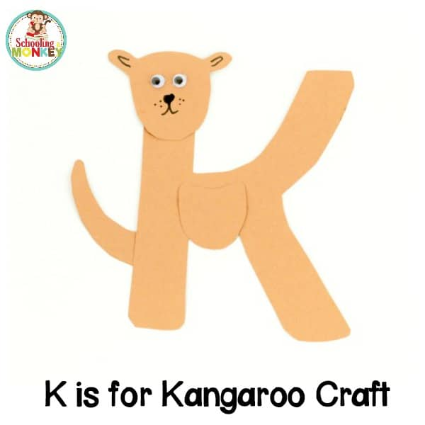 k is for kangaroo letter craft